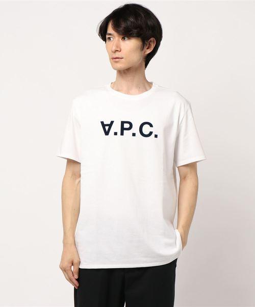 A.P.C.(アーペーセー)の「T-SHIRTS VPC JPS(Tシャツ/カットソー)」|ホワイト
