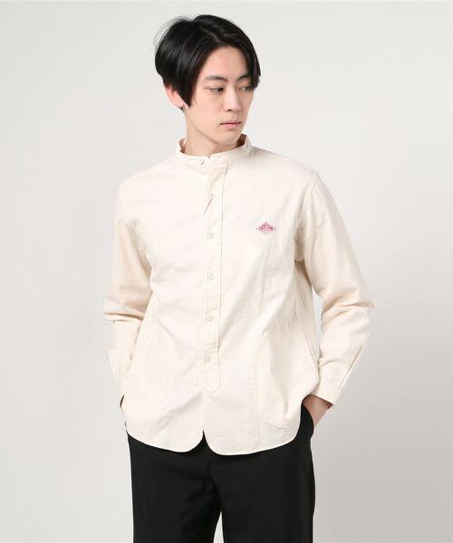 DANTON / ダントン 先染めビエラスタンドカラーシャツ
