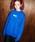X-girl(エックスガール)の「BOX LOGO CREW SWEAT(スウェット)」 ブルー
