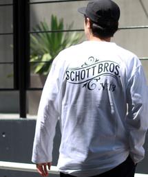 schott(ショット)の【WEB限定】Schott/ショット/ LS T-SHIRT No.13(Tシャツ/カットソー)