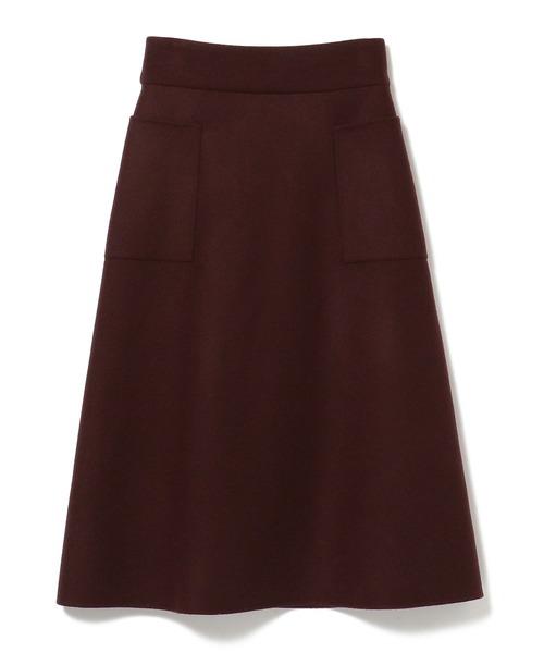 Demi-Luxe BEAMS / ダブル メルトンリバー スカート