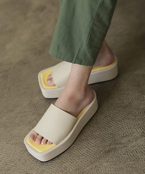 【chuclla】【2021/SS】Bicolor volume sandal chs138