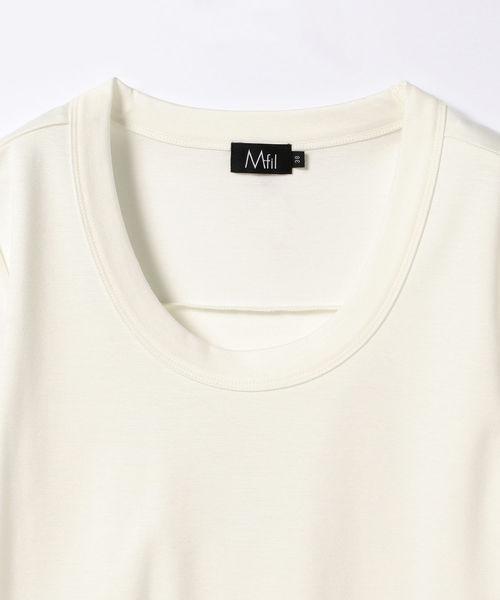 M・fil / ベーシック Uネック Tシャツ