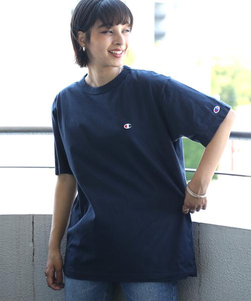 チャンピオン Champion ワンポイント 刺繍デザインTシャツ