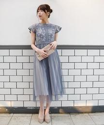 TIENS ecoute(ティアンエクート)のハシゴレースチュールドレス(ドレス)