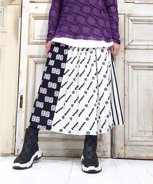 シャーリングロゴJQ シャーリングスカート