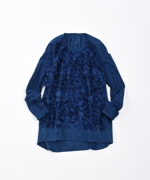 お買い得モデル 45R藍染めカディのフラワーブラウス(シャツ/ブラウス)|45R(フォーティファイブアール)のファッション通販, 天間林村:8abb94d3 --- 5613dcaibao.eu.org