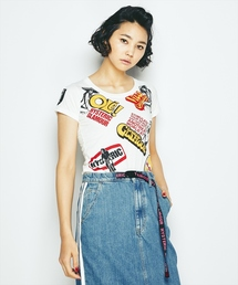 HYSTERIC GLAMOUR(ヒステリックグラマー)のCLASSIC SCRATCH プリント チビTシャツ(Tシャツ/カットソー)