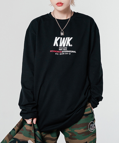 【KICHWORK】ロゴ ロングスリーブ ティーシャツ
