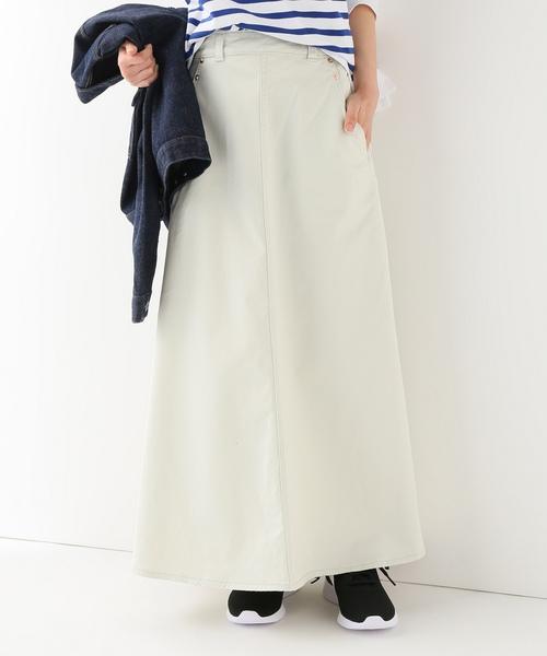 SLOBE IENA(スローブイエナ)の「RED CARD Ruthロングスカート(スカート)」 ホワイト