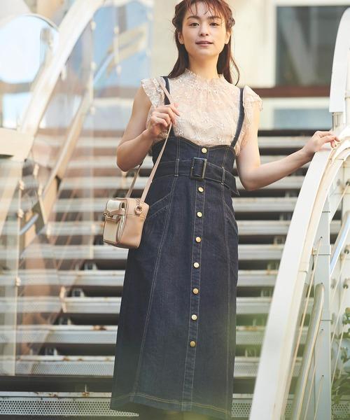 格安SALEスタート! ハイウエストデニムジャンスカ(ジャンパースカート) Noela(ノエラ)のファッション通販, 大網白里町:f67f32e2 --- wiratourjogja.com