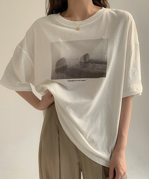 【chuclla】photo-graphic T-shirt chw1203