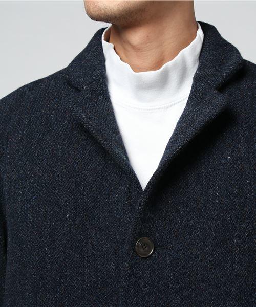 英国羊毛やぶれチェスターコート