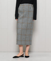 <H>CHECK TWEED TIGHT SKIRT/スカート
