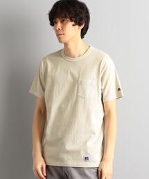 【WEB限定】別注[ラッセルアスレチック]SC★★RUSSELL GLR PIG ポケット Tシャツ