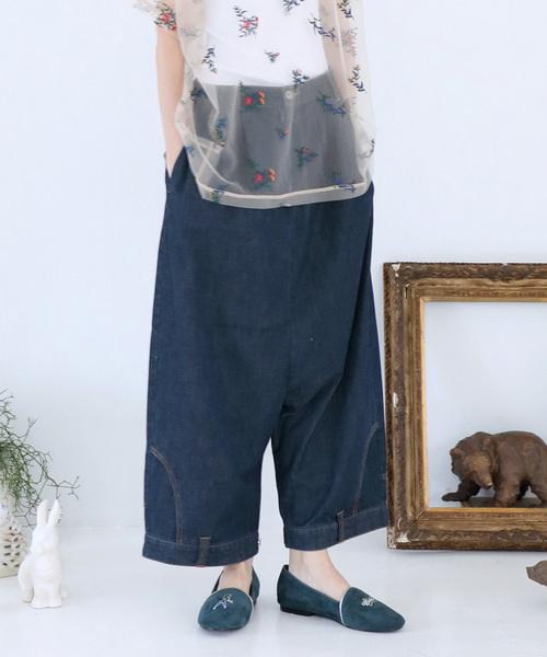 超歓迎 さかさまジーンズ(デニムパンツ)|bedsidedrama(ベットサイドドラマ)のファッション通販, こっとんてーる:329bd95c --- fahrservice-fischer.de