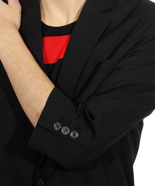 7分袖 テーラードジャケット スーツ生地