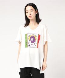 S & V pt VネックTシャツ