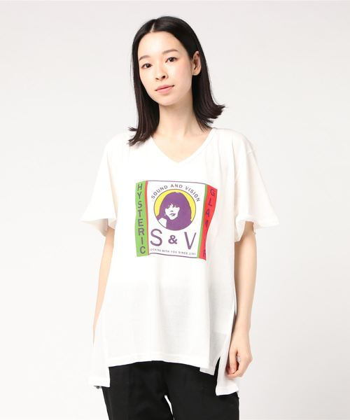 S & V VネックTシャツ