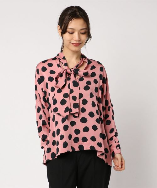 【★大感謝セール】 TESSA/ Dot print blouse(ドット柄ボウタイブラウス)(シャツ print Dot/ブラウス)|DRESSLAVE(ドレスレイブ)のファッション通販, コシジマチ:6a3814dd --- fantasy.kfz-viole.de
