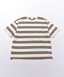 <UNUSED>BORDER SHORT SLLEVE T-SHIRT/Tシャツ.