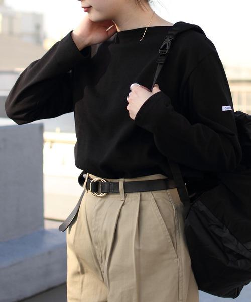 ORCIVAL/オーシバル コットンロード ボートネックシャツ ソリッド #B211