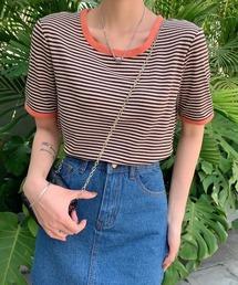ABITOKYO(アビトーキョー)の配色パイピングカットソーボーダーTee(半袖)(Tシャツ/カットソー)