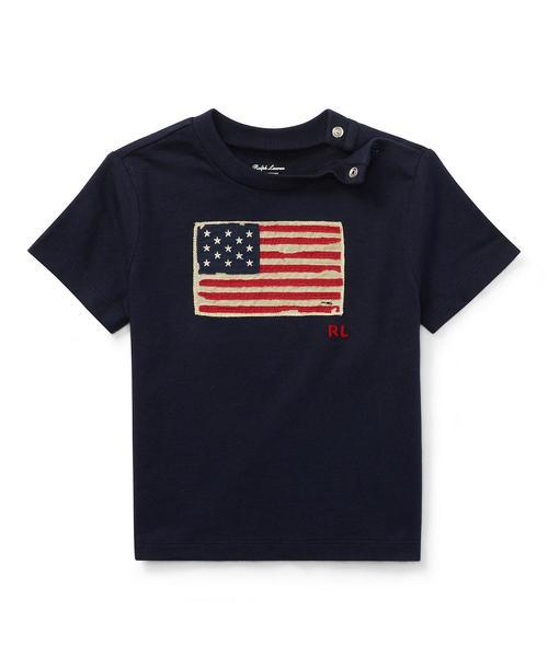 Polo Ralph Lauren Childrenswear(ポロラルフローレンチャイルドウェア)の「フラッグ コットン ジャージー Tシャツ(Tシャツ/カットソー)」|ネイビー