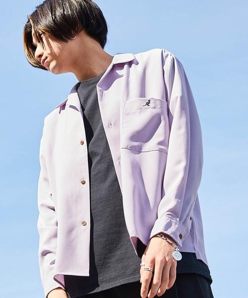 ▽WEB限定 KANGOL/カンゴール 別注 L/Sリラックスオープンカラーシャツ2020
