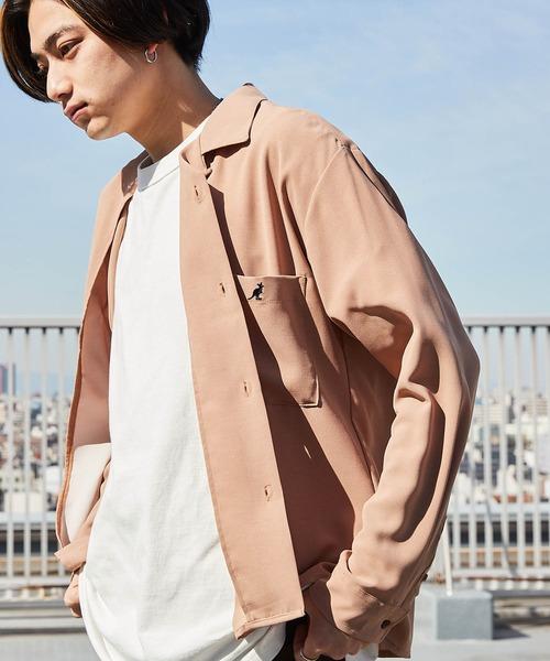 ▽WEB限定 KANGOL/カンゴール 別注 L/Sリラックスオープンカラーシャツ 2019AW