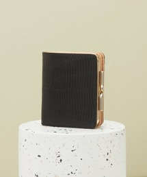 TOPKAPI(トプカピ)のイタリアンレザー・リザード型押し・がま口2つ折り財布(財布)