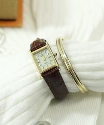 【 SEIKO / セイコー 】スクエア アナログ ソーラー腕時計  SUP250/SUP252 DKSブラウン