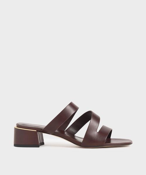 ストラッピーブロックヒールサンダル / Strappy Block Heel Sandals