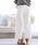 Pierrot(ピエロ)の「360°美脚見え ワイドパンツフルレングス センタープレス(その他パンツ)」|ホワイト