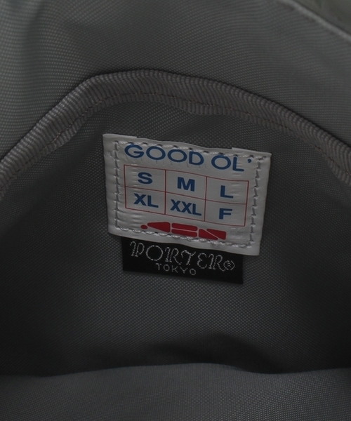 【PORTER/ポーター×GOOD OL'/グッドオル】メタリックミニサコッシュバッグ/ショルダーバッグ