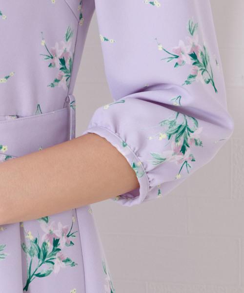 花柄フレアワンピース