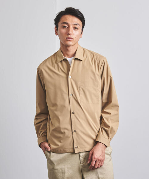 < UNITED ARROWS > ギャザー 1ポケット シャツ ◆