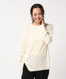 unfil(アンフィル)の【unfil】ローシルク 長袖リブTシャツ WOMEN(Tシャツ/カットソー)