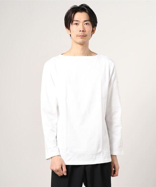 ORCIVAL/オーシバル コットンロード ボートネックシャツ ソリッド #B211(メンズ)