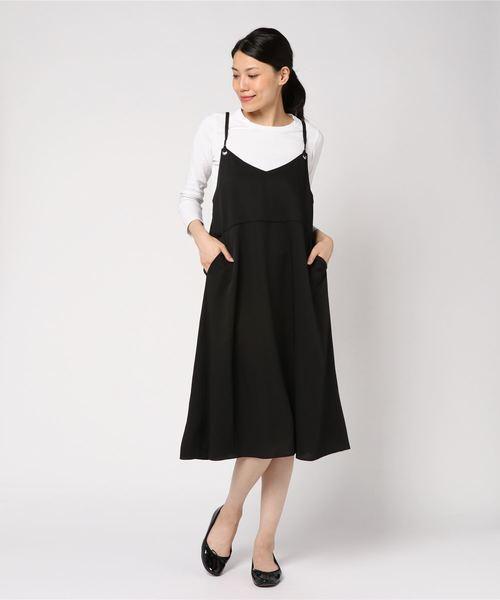 【Allumer/アリュメール】バックリボン キャミドレス
