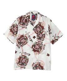 SWEET 16 DOLLS柄 オープンカラーシャツホワイト