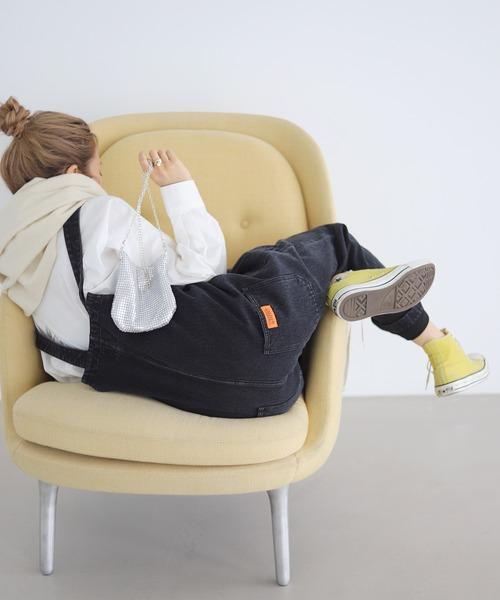 SLOBE citron.(スローブシトロン)の「SLOBE citron. UNIVERSAL OVERALLサロペット【洗濯機使用可能】◆(サロペット/オーバーオール)」|ブラック