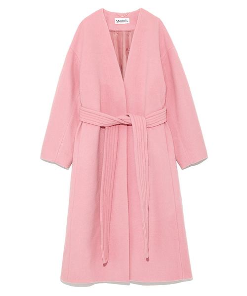 SNIDEL(スナイデル)の「カシミヤ混コート(その他アウター)」|ピンク