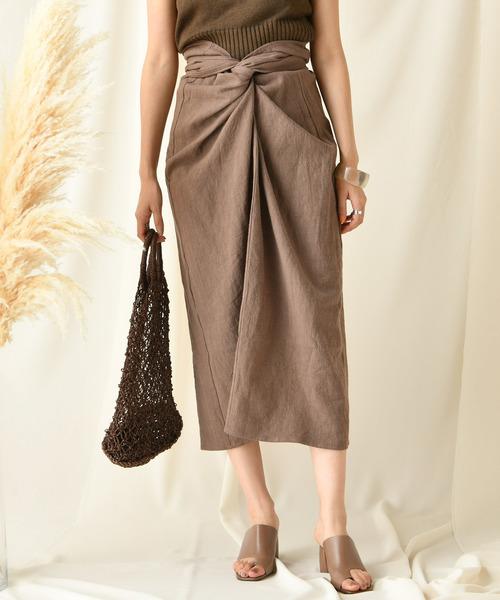 DouDou(ドゥドゥ)の「カイトスカート(スカート)」|ブラウン