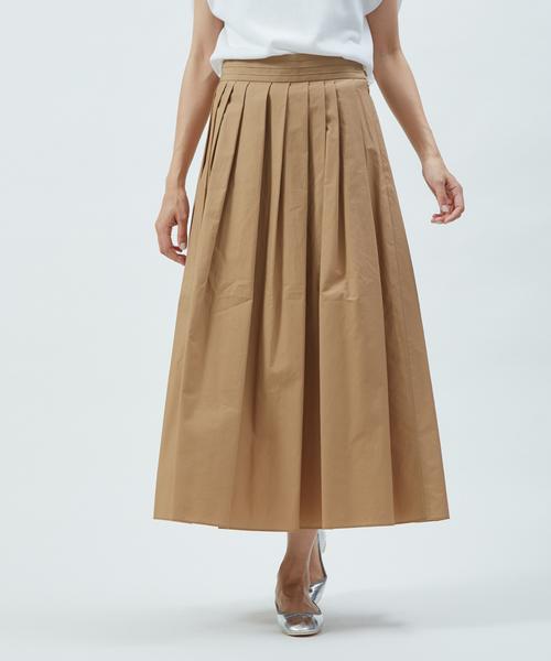collex(コレックス)の「ランダムタックスカート(スカート)」|モカ