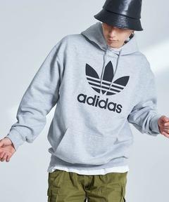 adidas アディダス TREFOIL HOODIE トレフォイル フーディー プルオーバーパーカー
