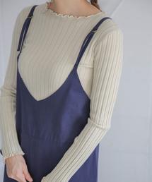 select MOCA(セレクトモカ)のモッチリ素材◆メロウ加工長袖シンプルリブカットソー(ニット/セーター)