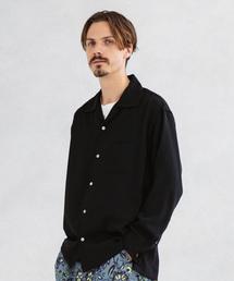 UNITED TOKYO(ユナイテッドトウキョウ)のサテンオープンカラーロングスリーブシャツ(シャツ/ブラウス)