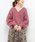natural couture(ナチュラルクチュール)の「ふんわりショートケーブルカーディガン(カーディガン/ボレロ)」|ピンク