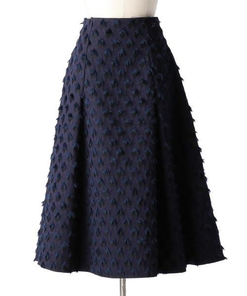 Drawer ネイビージャカードスカート